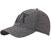 Checked Plaid Logo Baseball Hat