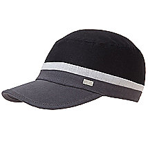 Colorblock Linen Blend Baseball Hat