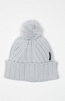 Ribbed Pom-Pom Hat