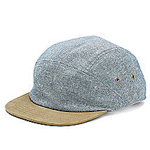 Suede Brim 5 Panel Hat