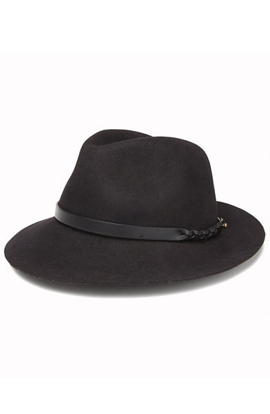 Leather Trim Fedora