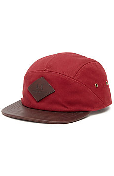 5 Panel Leather Patch Hat
