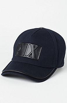 Leather Logo Baseball Hat