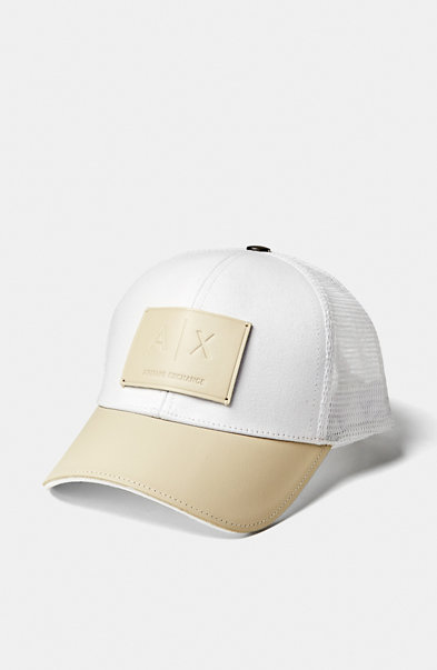 Leather & Mesh Trucker Hat