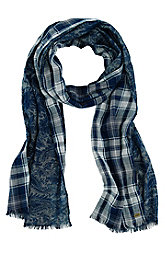Plaid Paisley Scarf