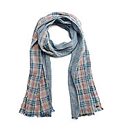 Plaid Double Weave Scarf