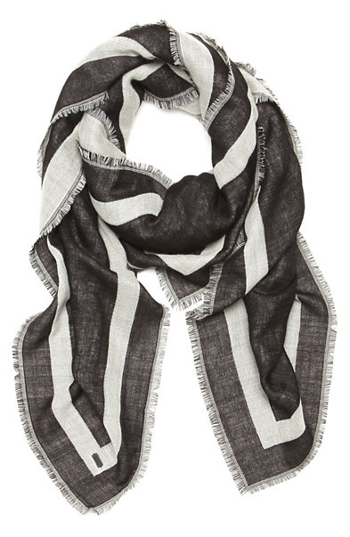 Black and White Number Scarf