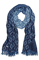 Printed Chambray Scarf