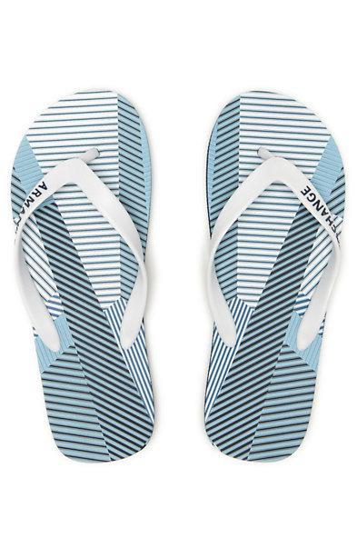 Striped Patchwork Flip Flop