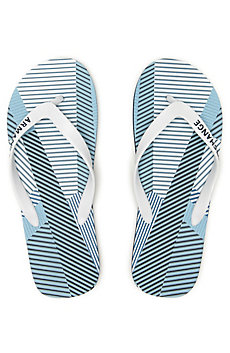 striped patchwork flip flop