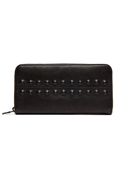 Leather Stud Wallet
