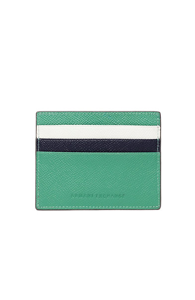 Colorblock Leather Card Case