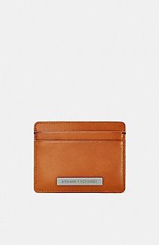 Leather Logo Plate Cardcase
