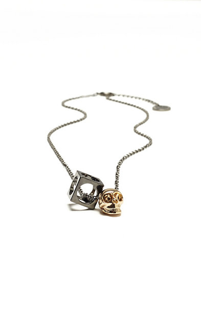 Skull and Cube Necklace