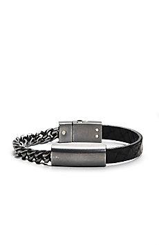 Link & Leather Bracelet