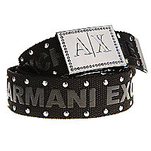Studded Logo Belt