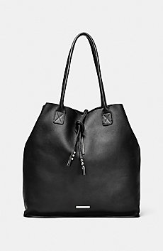 Oversize Leather Tassel Tote