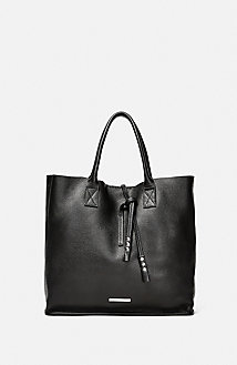 Mini Leather Tassel Tote