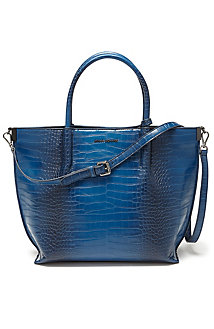 Structured Croc Tote