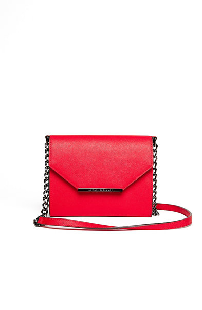 Saffiano Leather Envelope Crossbody