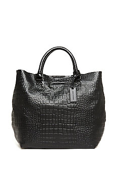 Leather Croc Tote