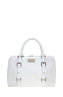 Perforated Signature Satchel