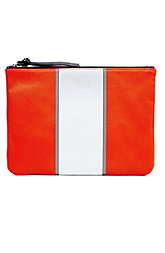 Striped Leather Pouch