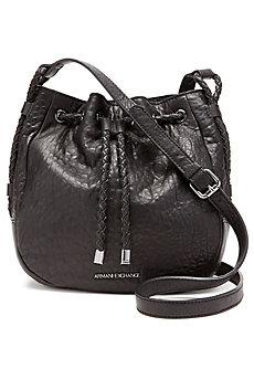 Leather Drawstring Crossbody Bag