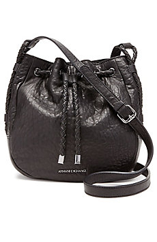 Leather Drawstring Crossbody Bag