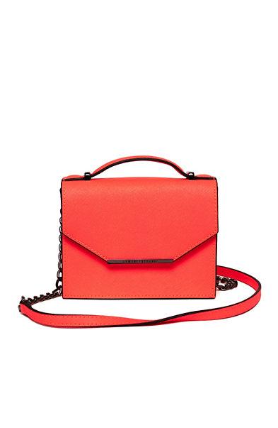 Mini Saffiano Leather Crossbody Bag