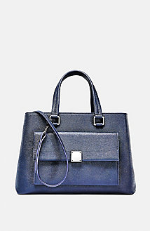 Tapered Saffiano Satchel