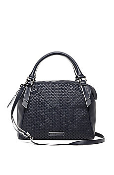 Convertible Woven Square Satchel