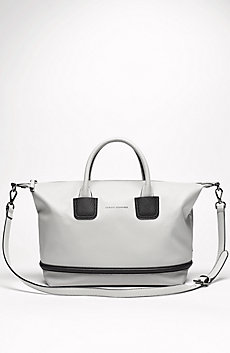 Pebbled Colorblock Satchel