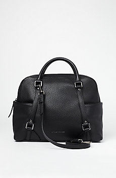 Pebbled Convertible Satchel