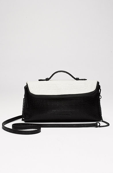 Mini Colorblock Croc Crossbody