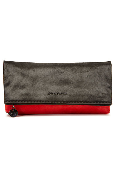 Colorblock Pony Hair Clutch