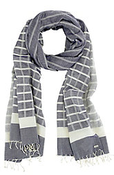Windowpane Striped Scarf