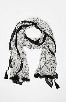 Floral Outline Scarf