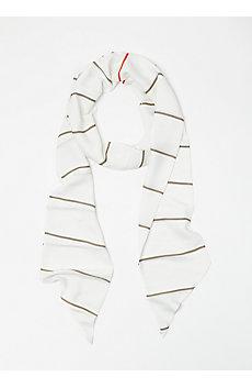 Skinny Striped Scarf