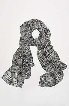 Linear Noise Silk Scarf