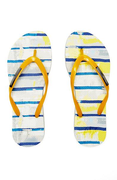 Painterly Stripes Flip Flop