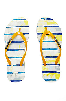 Painterly Stripes Flip Flop