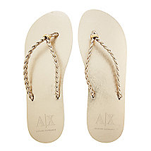 Metallic Braided Flip Flop