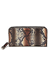 Snake-print Clutch Wallet