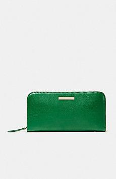 Long Textured Zip Wallet