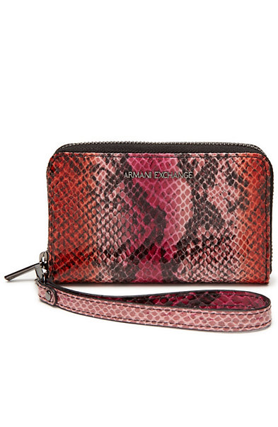 Snake-print iPhone Wristlet/Wallet