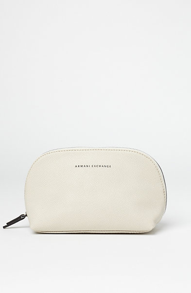 Textured Leather Cosmetics Pouch