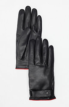 Leather Buckle Gloves