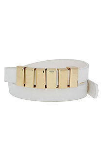 Hardware Faux Leather Wrap Bracelet
