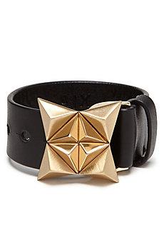Pyramid Leather Bracelet
